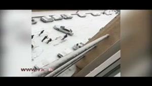 تصادف چند خودرو در اثر سر خوردن