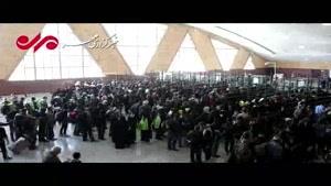فیلم/ خروج روان و منظم زائران اربعین از مرز شلمچه