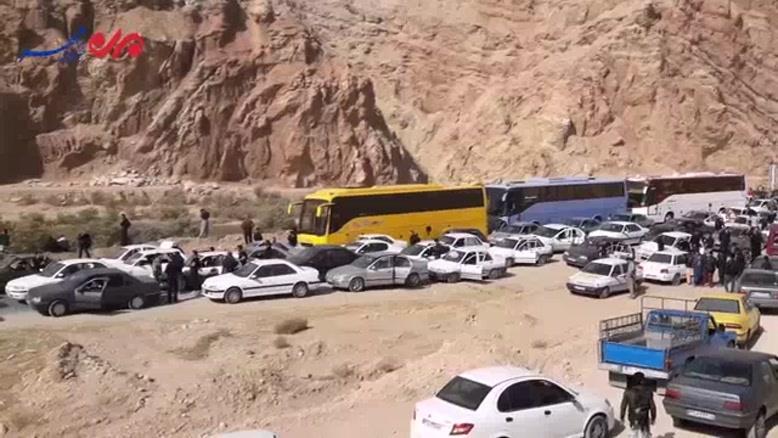 فیلم/ ترافیک قفل شده در مرز مهران