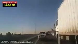 تعقیب گریز خفن پلیس ایران و چپ کردن سارق