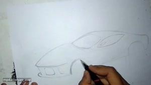 راهنمایی طراحی و اسکچ خودروی لا فراری