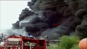 انفجار تریلی نفتکش