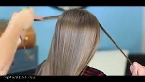 آموزش بافت موی دخترانه (پشت سر )