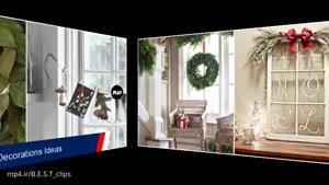 تزیین دکوراسیون پنجره ها برای کریسمس