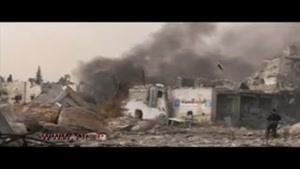 توزیع کمکهای انسان دوستانه توسط ارتش روسیه در حلب