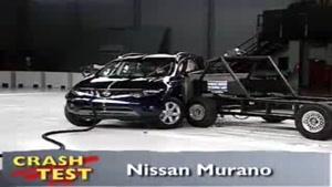 تست تصادف نیسان مورانو ۲۰۰۹