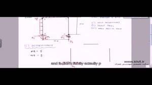 فیلم آموزشی حل مثال تحلیل سازه