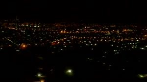 لحظاتی قبل از فرود آمدن هواپیما در فرودگاه مهرآباد