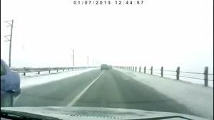 تصادف سنگ یانگ اکتیون در جاده برفی روسیه