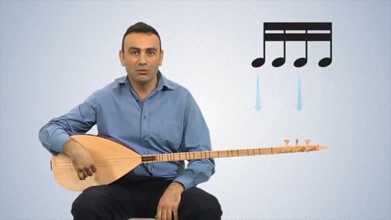 اموزش ساز ترکی باغلاما - بخش ۳
