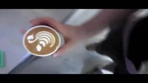 تزیین قهوه لاته