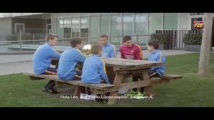 مشاوره ی مسی به کودکان آکادمی بارسلونا