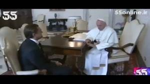 ملاقات خصوصی دی کاپریو با پاپ فرانسیس