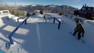 صحنه های زیبا از اسکی با اسنوبرد