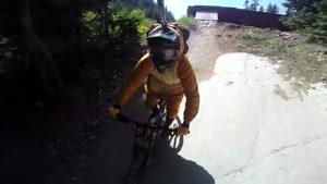 لحظات هیجانی در دوچرخه سواری کوهستان