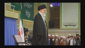 سرود ملی جمهوری اسلامی در حضور رهبر انقلاب