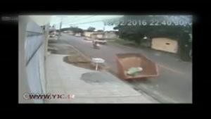 تعقیب و گریزی که با تصادف هم متوقف نشد