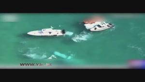سقوط یک هواپیمای سبک در آبهای ساحل میامی