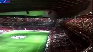 فیلم/ جو زیبای استادیوم امارات پیش از بازی آرسنال و بارسلونا