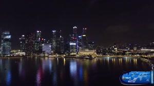 زیبایی شهر سنگاپور در شب