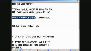 رفع خطای آپدیت ویندوز ویستا