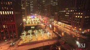 تایم لپس طوفان برف نیویورک - آمریکا