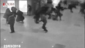 اولین فیلم از لحظه انفجار در فرودگاه بروکسل