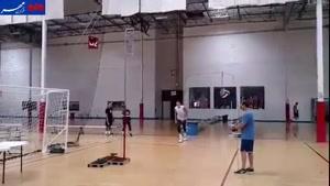 فیلم/ پرش باورنکردنی مت اندرسون در تمرین والیبال