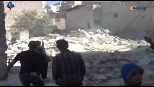 فیلم/ حمله خمپارهای «جبهه النصره» به حومه حلب