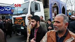 فیلم/تشییع پیکر ۱۲ شهید گمنام در رشت