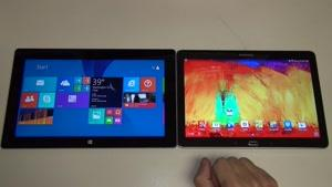 مقایسه تبلت Microsoft Surface 2 vs Samsung Galaxy Note 10