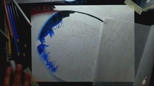 تایم لپس نقاشی چشم به بسیار جذاب