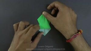 طراحی طوطی با کاغذ