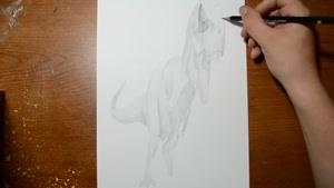 تایم لپس نقاشی دایناسور