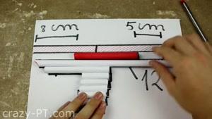 ساخت اسلحه بزرگ کاغذی