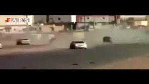 راننده زن سعودی حادثه آفرید