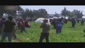 درگیری پناهجویان با پلیس یونان