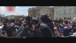 دستگیری ۴۰۰ معترض آمریکایی در تظاهرات مقابل کنگره