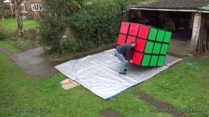 بزرگترین مکعب روبیک تونی فیشر در جهان!