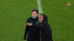 حواشی تمرینات بارسلونا در استادیوم ارسنال