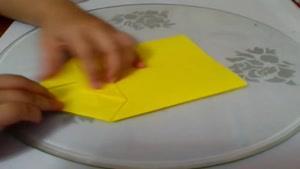 طرز ساخت کیف کاغذی زرد