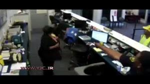 غافلگیر شدن سارق بانک توسط پلیس