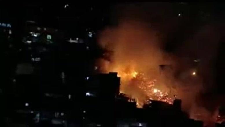 فیلم/آتش سوزی در شهر سائوپائولو برزیل