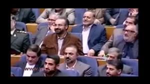 اظهارات متفاوت پورمحمدی و خنده رئیس مجلس و روسای قدیم و جدید صدا و سیما