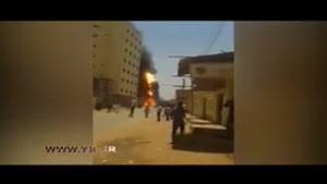 انفجار مهیب تانکر و وحشت زدگی مردم