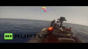 فیلم/غرق شدن ۳۰ مهاجر در سواحل لیبی