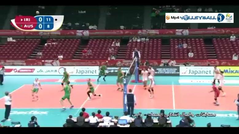 ایران ۳-۰ استرالیا (والیبال انتخابی المپیک)