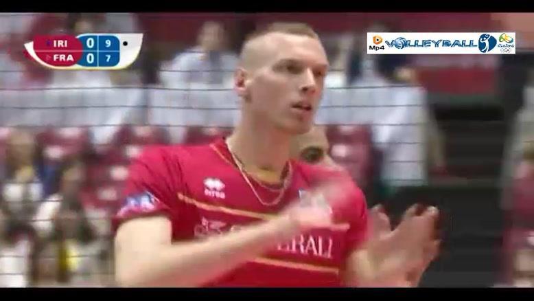 والیبال ایران 0-3 فرانسه (انتخابی المپیک)