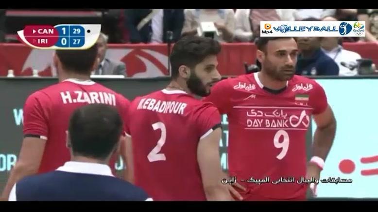 کانادا 2-3 ایران (والیبال انتخابی المپیک)