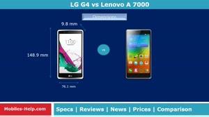 مقایسه گوشی LG G۴ vs Lenovo A ۷۰۰۰